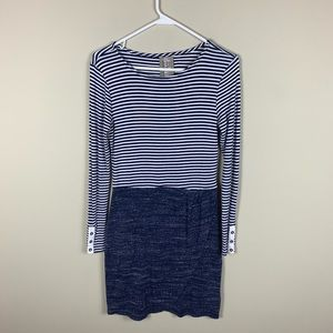 Anthropologie: mixed striped long sleeve dress